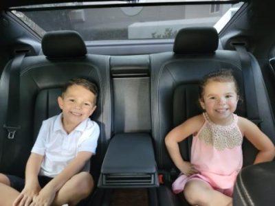 web kids backseat benz